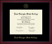 East Georgia State College Diploma Frame - Gold Embossed Achievement Edition Diploma Frame in Academy