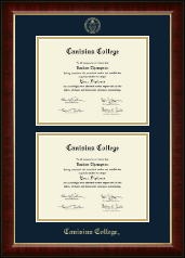 Canisius College Diploma Frame - Double Diploma Frame in Murano