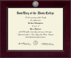 Saint Mary-of-the-Woods College Diploma Frame - Century Silver Engraved Diploma Frame in Cordova