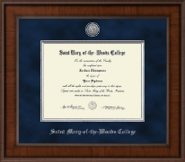 Saint Mary-of-the-Woods College Diploma Frame - Presidential Silver Engraved Diploma Frame in Madison