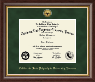 California State Polytechnic University, Pomona Diploma Frame - Gold Engraved Medallion Diploma Frame in Hampshire