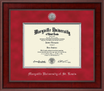 Maryville University of St. Louis Diploma Frame - Presidential Silver Engraved Diploma Frame in Jefferson