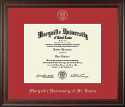 Maryville University of St. Louis Diploma Frame - Silver Embossed Diploma Frame in Studio