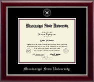 Mississippi State University Diploma Frame - Silver Embossed Diploma Frame in Gallery Silver