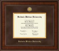 Baldwin Wallace University Diploma Frame - Presidential Gold Engraved Diploma Frame in Madison
