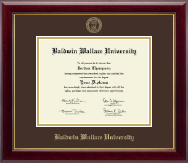 Baldwin Wallace University Diploma Frame - Gold Embossed Diploma Frame in Gallery
