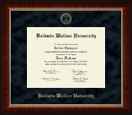 Baldwin Wallace University Diploma Frame - Gold Embossed Diploma Frame in Murano