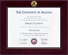 The University of Arizona Diploma Frame - Century Gold Engraved Diploma Frame in Cordova