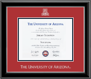 The University of Arizona Diploma Frame - Silver Embossed Diploma Frame in Onyx Silver