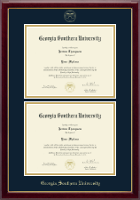 Georgia Southern University Diploma Frame - Double Diploma Frame in Gallery