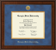 Georgia State University Diploma Frame - Presidential Gold Engraved Diploma Frame in Madison