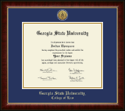 Georgia State University Diploma Frame - Gold Engraved Medallion Diploma Frame in Murano