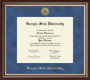 Georgia State University Diploma Frame - Gold Engraved Medallion Diploma Frame in Hampshire