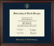 University of North Georgia Diploma Frame - Gold Embossed Diploma Frame in Studio