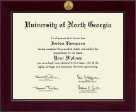 University of North Georgia Diploma Frame - Century Gold Engraved Diploma Frame in Cordova