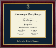 University of North Georgia Diploma Frame - Gold Embossed Diploma Frame in Gallery