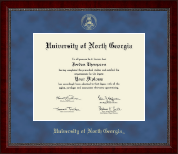University of North Georgia Diploma Frame - Gold Embossed Diploma Frame in Sutton