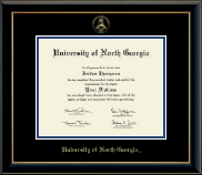 University of North Georgia Diploma Frame - Gold Embossed Diploma Frame in Onyx Gold