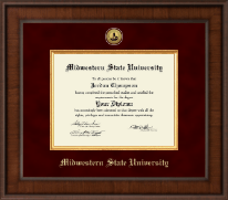 Midwestern State University Diploma Frame - Presidential Gold Engraved Diploma Frame in Madison