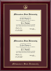 Midwestern State University Diploma Frame - Double Diploma Frame in Gallery