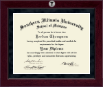 Southern Illinois University School of Medicine Diploma Frame - Millennium Silver Engraved Diploma Frame in Cordova