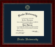 Drake University Diploma Frame - Gold Embossed Diploma Frame in Sutton