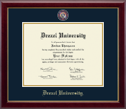 Drexel University Diploma Frame - Masterpiece Medallion Diploma Frame in Gallery
