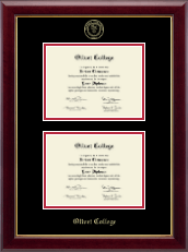 Olivet College Diploma Frame - Double Diploma Frame in Gallery