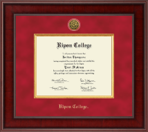 Ripon College Diploma Frame - Presidential Gold Engraved Diploma Frame in Jefferson