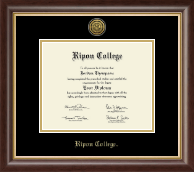 Ripon College Diploma Frame - Gold Engraved Medallion Diploma Frame in Hampshire