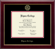 Ripon College Diploma Frame - Gold Embossed Diploma Frame in Gallery