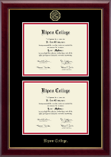 Ripon College Diploma Frame - Double Diploma Frame in Gallery