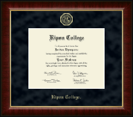 Ripon College Diploma Frame - Gold Embossed Diploma Frame in Murano
