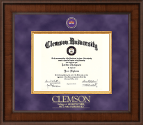 Clemson University Diploma Frame - Presidential Masterpiece Diploma Frame in Madison