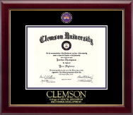Clemson University Diploma Frame - Masterpiece Medallion Diploma Frame in Gallery