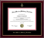 New Mexico Military Institute Diploma Frame - Gold Embossed Diploma Frame in Gallery