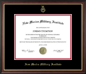 New Mexico Military Institute Diploma Frame - Gold Embossed Diploma Frame in Studio Gold
