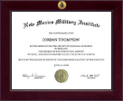 New Mexico Military Institute Diploma Frame - Century Gold Engraved Diploma Frame in Cordova