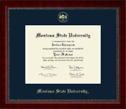 Montana State University Bozeman Diploma Frame - Gold Embossed Diploma Frame in Sutton