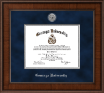 Gonzaga University Diploma Frame - Presidential Silver Engraved Diploma Frame in Madison