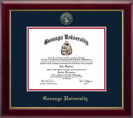 Gonzaga University Diploma Frame - Gold Embossed Diploma Frame in Gallery