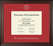 University of the Cumberlands Diploma Frame - Silver Embossed Diploma Frame in Studio