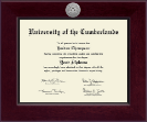 University of the Cumberlands Diploma Frame - Century Silver Engraved Diploma Frame in Cordova