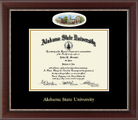Alabama State University Diploma Frame - Campus Cameo Diploma Frame in Chateau