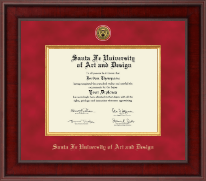 Santa Fe University of Art and Design Diploma Frame - Presidential Gold Engraved Diploma Frame in Jefferson