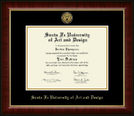 Santa Fe University of Art and Design Diploma Frame - Gold Engraved Medallion Diploma Frame in Murano