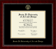 Santa Fe University of Art and Design Diploma Frame - Gold Embossed Diploma Frame in Sutton