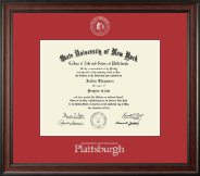 Plattsburgh State University Diploma Frame - Gold Embossed Diploma Frame in Studio