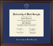 University of West Georgia Diploma Frame - Silver Embossed Diploma Frame in Studio