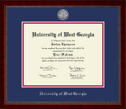 University of West Georgia Diploma Frame - Silver Engraved Medallion Diploma Frame in Sutton